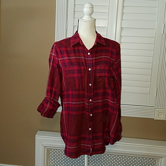 5a85b3423 Mossimo Supply Co. Tops | Mossimo Target Boyfriend Fit Plaid Flannel ...